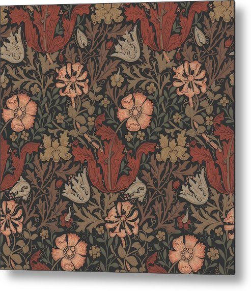 William Metal Print featuring the tapestry - textile Compton Design by Philip Ralley