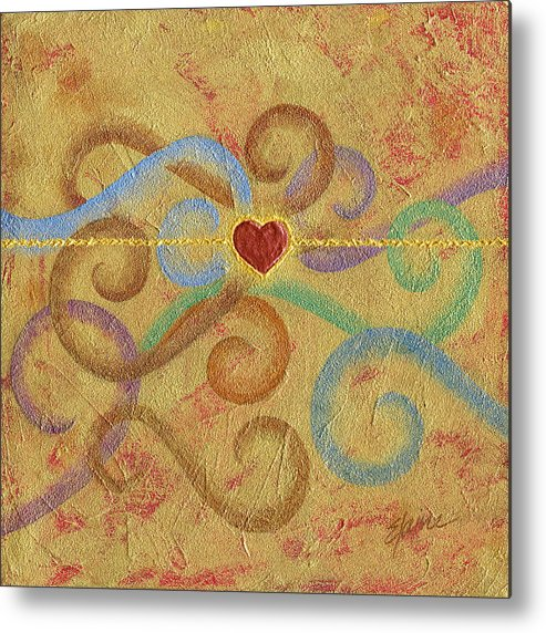 Heart Metal Print featuring the painting Constant in Chaos by Elaine Allen