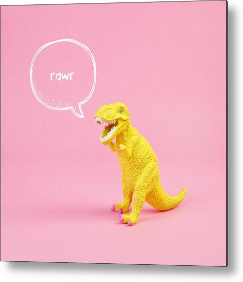 Animal Metal Print featuring the photograph Dinosaur Rawr by Juj Winn