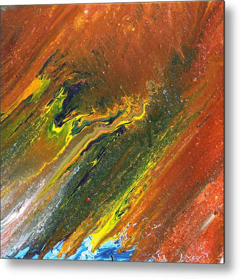 Fusionart Metal Print featuring the painting Distance by Ralph White