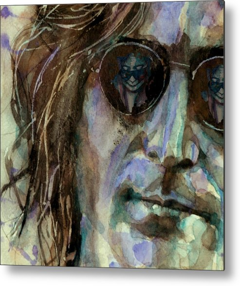 John Lennon Metal Print featuring the painting Double Fantasy by Paul Lovering