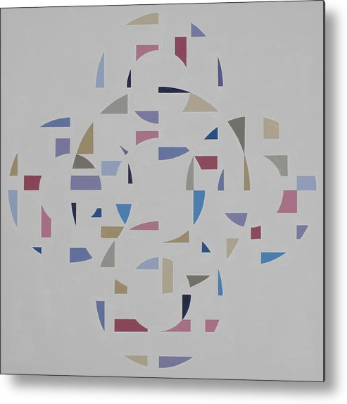 Abstract Geometric Optic Painting Metal Print featuring the painting Ecliptic #2 by Marston A Jaquis