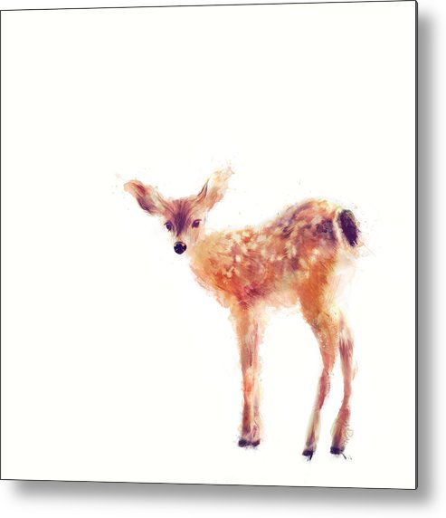 Fawn Metal Print featuring the painting Fawn by Amy Hamilton