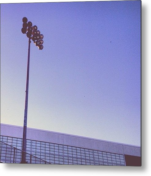 Football Metal Print featuring the photograph Friday Night Light by Christy Beckwith