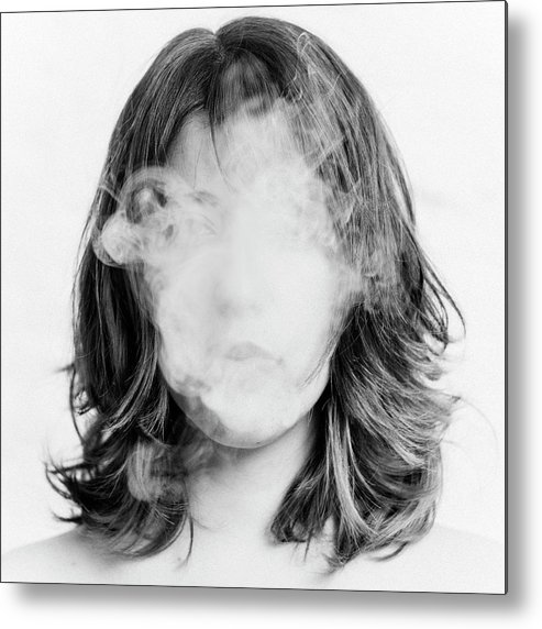 People Metal Print featuring the photograph Girl Smoking by Lita Bosch