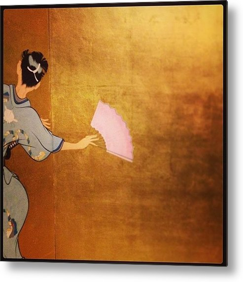 Metal Print featuring the photograph Gold Leaf by Heidi Hermes