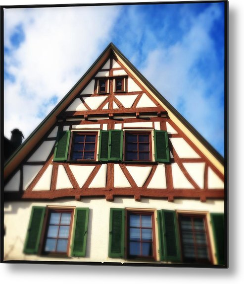 Half-timbered Metal Print featuring the photograph Half-timbered house 02 by Matthias Hauser