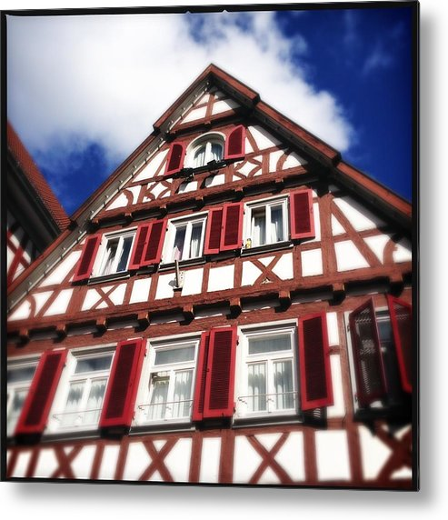 Half-timbered Metal Print featuring the photograph Half-timbered house 09 by Matthias Hauser