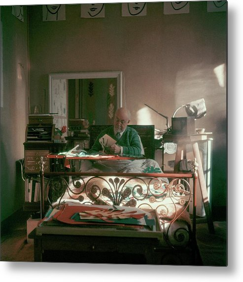 Artist Metal Print featuring the photograph Henri Matisse In Bed by Clifford Coffin