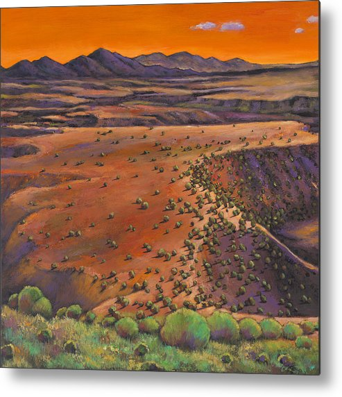 New Mexico Metal Print featuring the painting High Desert Evening by Johnathan Harris
