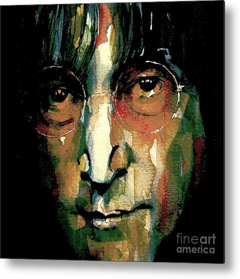 John Lennon Metal Print featuring the painting Instant Karma by Paul Lovering