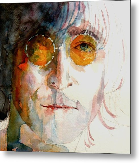 John Lennon Metal Print featuring the painting John Winston Lennon by Paul Lovering