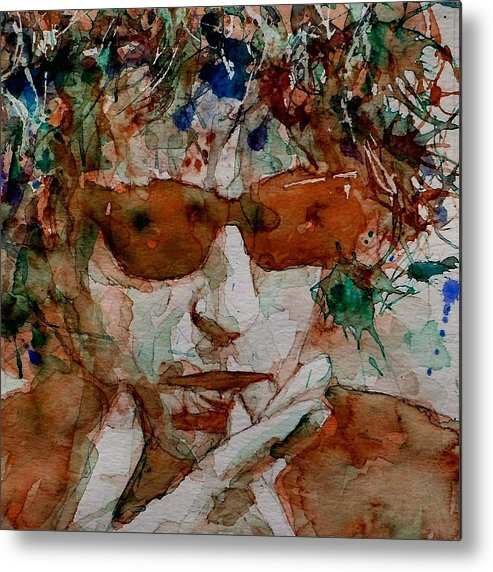Bob Dylan Metal Print featuring the painting Just Like A Woman by Paul Lovering