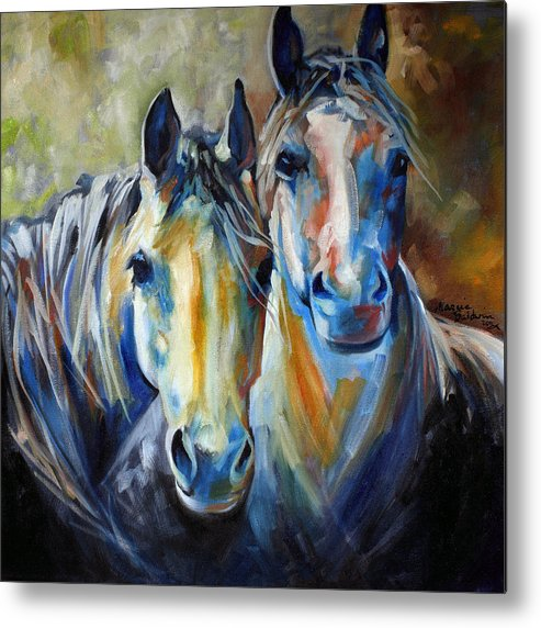 Horse Metal Print featuring the painting Kindred Souls Equine by Marcia Baldwin