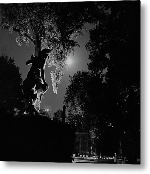 Exterior Metal Print featuring the photograph Lady Mendl's Garden In Paris by Roger Schall