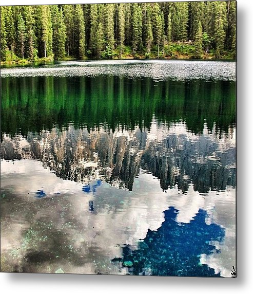 Shotaward Metal Print featuring the photograph Lago Di #carezza #dolomiti #altoadige by Luisa Azzolini