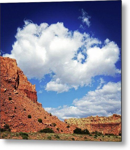 Scenics Metal Print featuring the photograph Landscape Desert Badlands Sky by Amygdala imagery