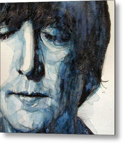 John Lennon The Beatles Metal Print featuring the painting Lennon by Paul Lovering