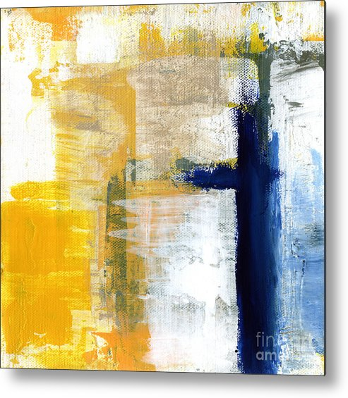 Abstract Metal Print featuring the painting Light Of Day 3 by Linda Woods