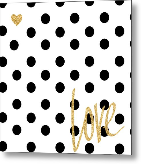 Love Metal Print featuring the digital art Love With Dots by South Social Studio