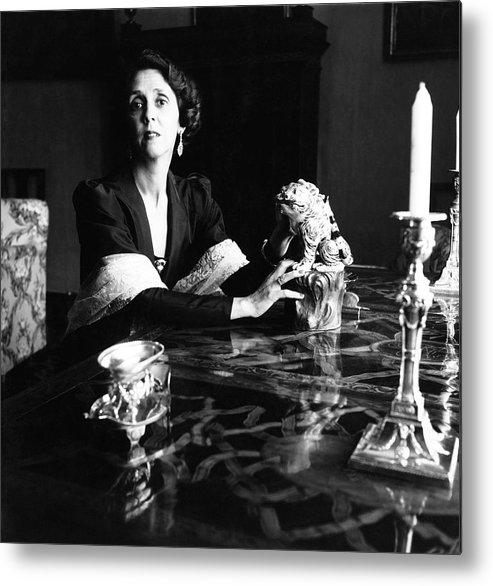 Interior Metal Print featuring the photograph Maria Josefa Fernandez De Henestrosa De Martinez by Horst P. Horst