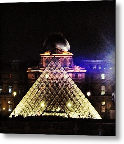 Europe Metal Print featuring the photograph #mgmarts #louvre #paris #france #europe by Marianna Mills