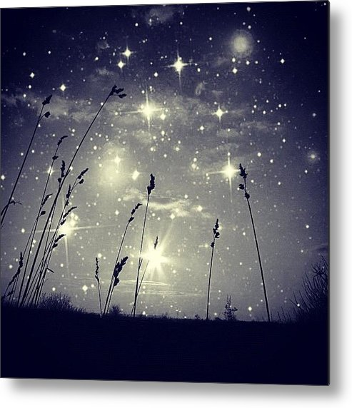 Mgmarts Metal Print featuring the photograph #mgmarts #mysky #wish #life #simple by Marianna Mills