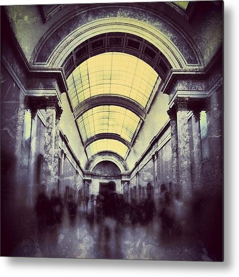 Beautiful Metal Print featuring the photograph #mgmarts #paris #france #europe #louvre by Marianna Mills