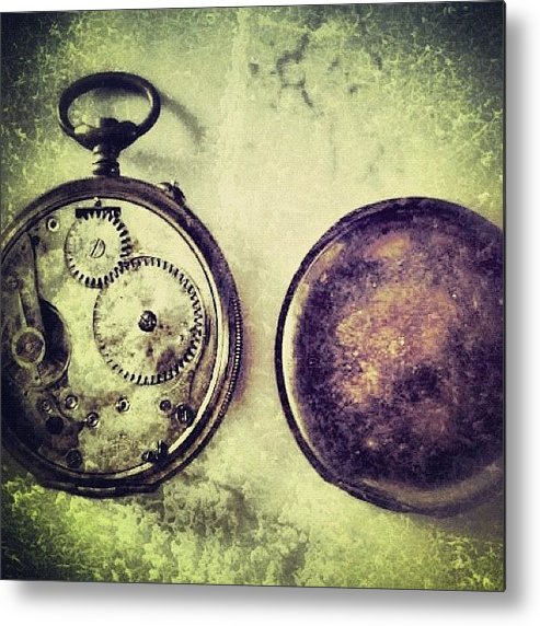 Europe Metal Print featuring the photograph #mgmarts #watch #time #bestogram by Marianna Mills