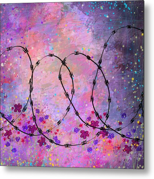 Abstract Metal Print featuring the digital art Mixed Messages by William Russell Nowicki