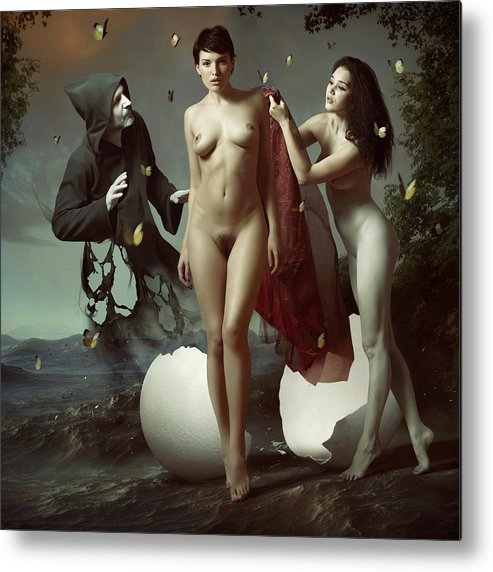 Woman Metal Print featuring the photograph Nascita Di Venere by Igor_voloshin