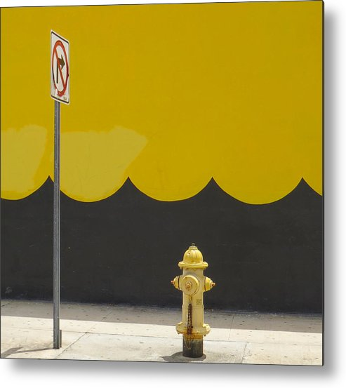 Miami Metal Print featuring the photograph No Right Turn by Dart and Suze Humeston