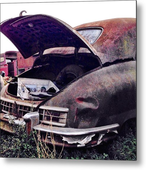 Classic Car Metal Print featuring the photograph Old Car by Julie Gebhardt