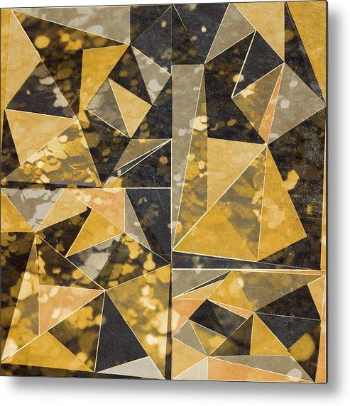 Omg Metal Print featuring the digital art Omg Modern Triangles II by south Social Studio
