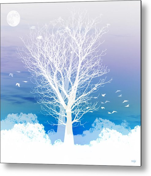 Tree Metal Print featuring the photograph Once Upon A Moon Lit Night... by Holly Kempe