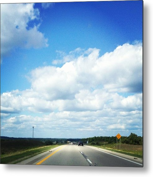 Landscape Metal Print featuring the photograph Open Road by Christy Beckwith