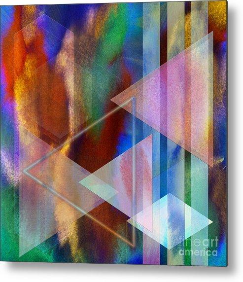 Pastoral Midnight Metal Print featuring the digital art Pastoral Midnight - Square Version by John Robert Beck