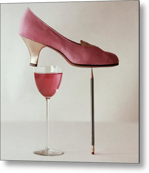 Accessories Metal Print featuring the photograph Pink Capezio Pump by Richard Rutledge