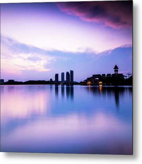 Tranquility Metal Print featuring the photograph Pink Sunrise by Azirull Amin Aripin