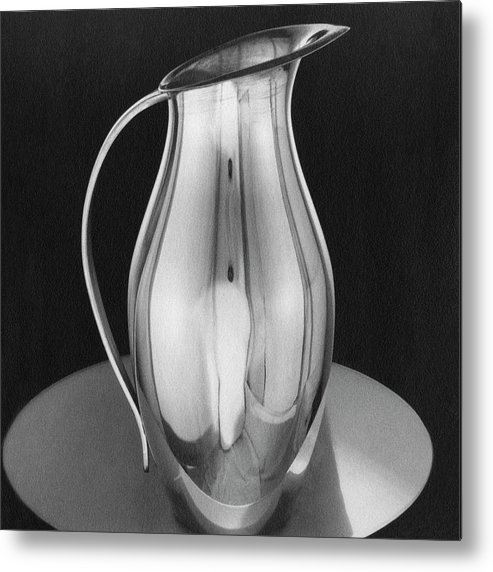 Home Accessories Metal Print featuring the photograph Pitcher From Ovington's by Martinus Andersen