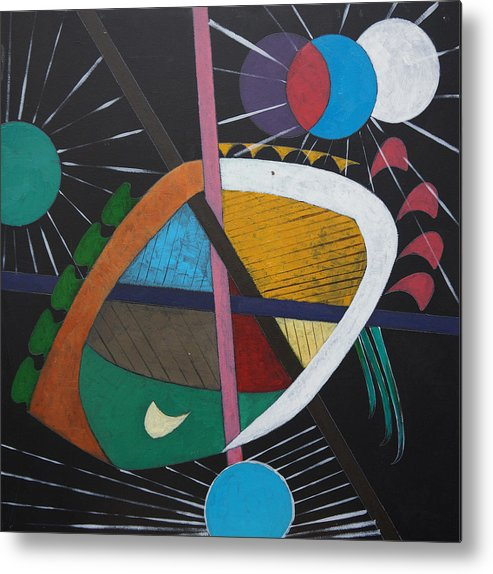 Acrylic Metal Print featuring the painting Planets by Sergey Bezhinets