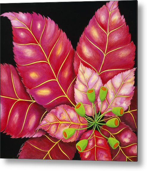 Acrylic Metal Print featuring the painting Poinsettia by Carol Sabo