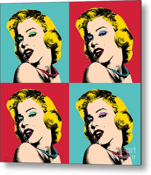 Pop Art Metal Print featuring the painting Pop Art Collage by Mark Ashkenazi