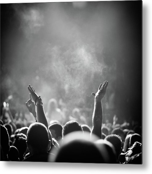 Rock Music Metal Print featuring the photograph Popular Music Concert by Alenpopov