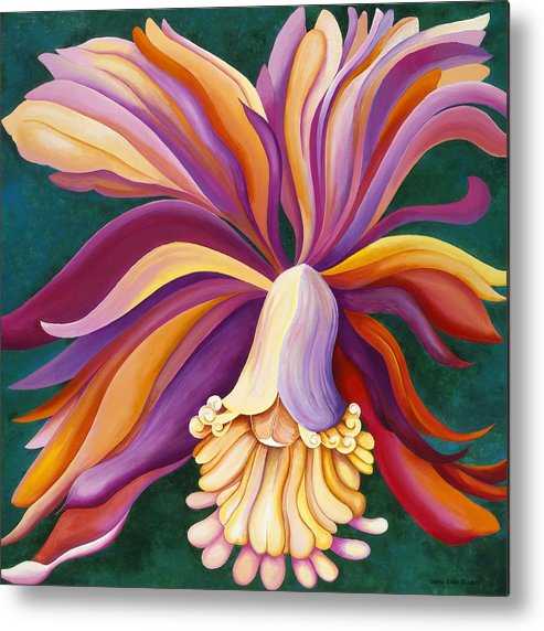 Orchid Metal Print featuring the painting Ribbon Orchid by Carol Sabo