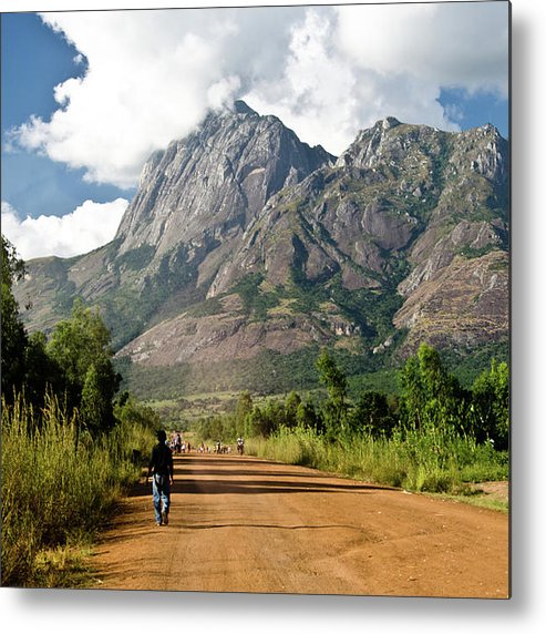 Scenics Metal Print featuring the photograph Road To Mount Mulanje by Colin Carmichael