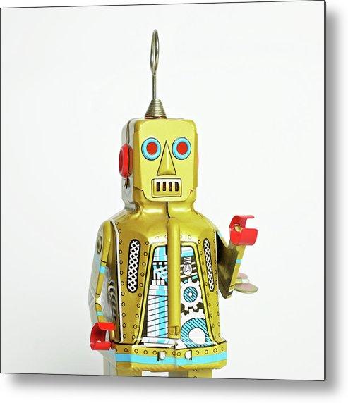 Cut Out Metal Print featuring the photograph Robots by Juj Winn