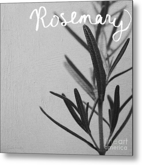 Rosemary Metal Print featuring the mixed media Rosemary by Linda Woods