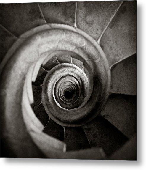 La Sagrada Familia Metal Print featuring the photograph Sagrada Familia Steps by Dave Bowman