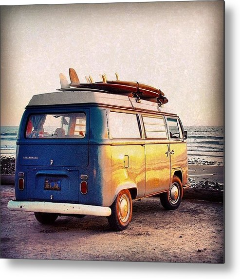 San Onofre Metal Print featuring the photograph Surf Parking by Hal Bowles